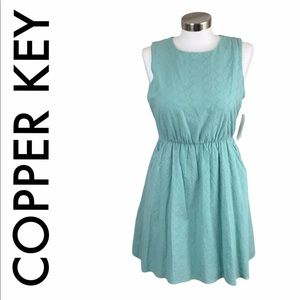 COPPER KEY NWT GREEN EYELET DRESS SIZE SMALL